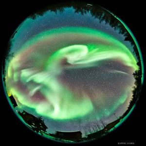 Aurora Borealis Northern Lights Panorama