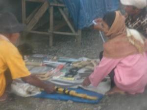 Pasar Bagambir, Desa Bamban Kec. Angkinang. Berada di Jl Ayani Trans Kalimantan. Buka setiap hari jum'at