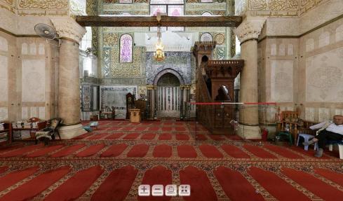 Ruangan Utama Shalat Masjid Al Aqsha