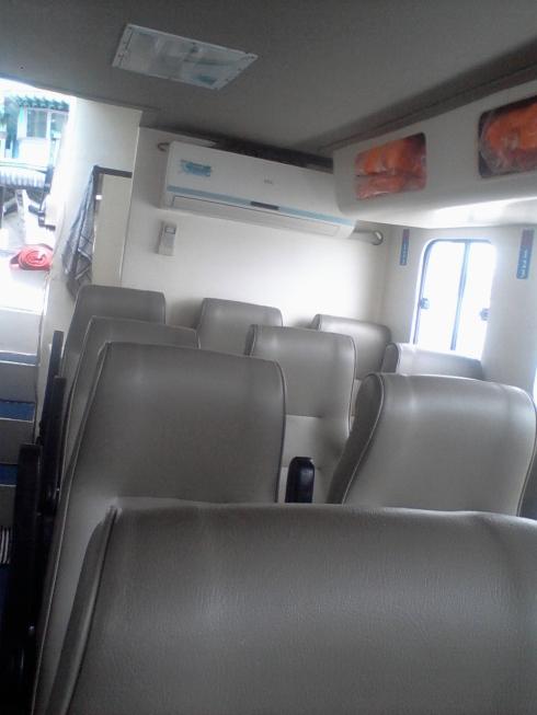 Kursi Penumpang di Bus Air Sinar Daha