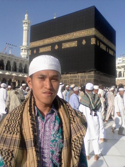 Sesaat Sebelum Melaksanakan Tawaf Wada' pada Ibadah Haji Tahun 2012 tadi.